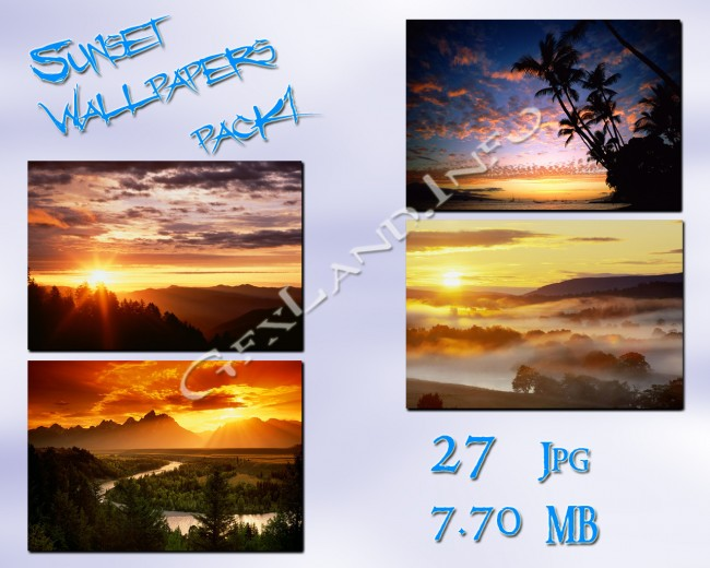 Sunset Wallpapers pack1