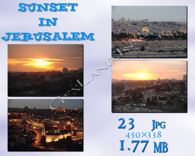 Sunset in Jerusalem