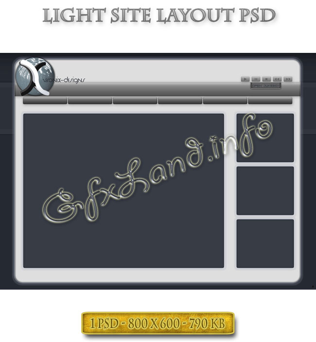 Light Site Layout PSD