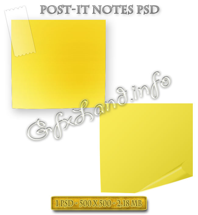 Post-It Notes PSD